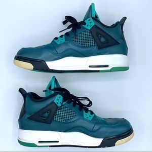 NIKE AIR JORDAN 4 Retro 30th Teal GS Size 6.5Y